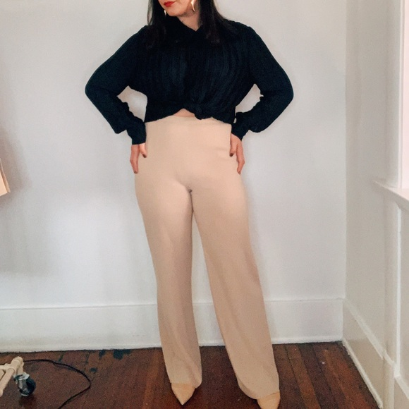 MaxMara Pants - Max Mara Cream Tan Trousers